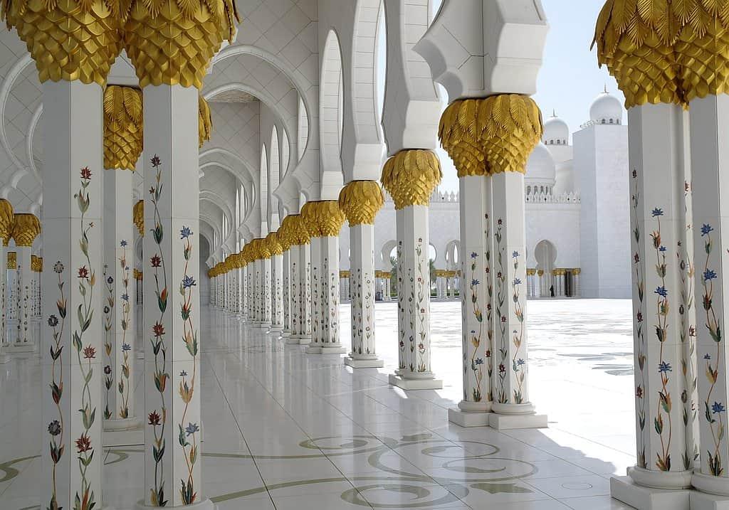 Moschee Abu Dhabi Säule