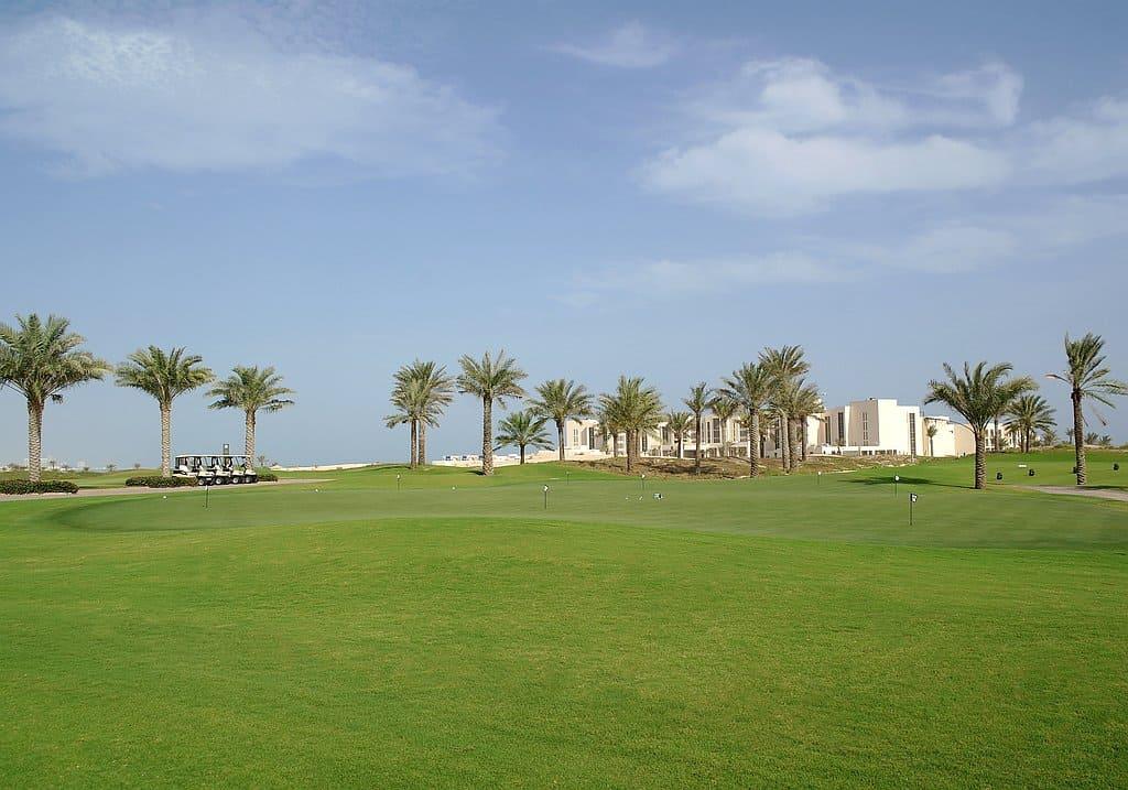 Golfplatz auf Saadiyat Island Abu Dhabi