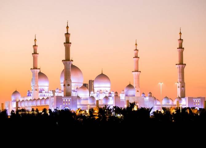 Nacht Moschee Abu Dhabi