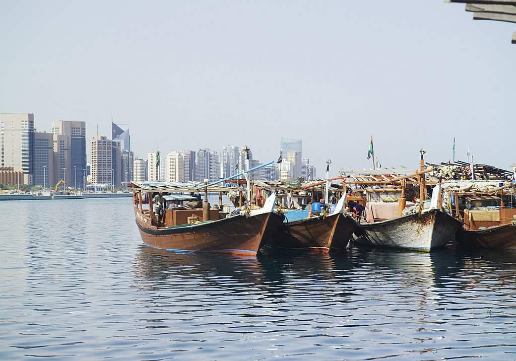 Holzboote Abu Dhabi