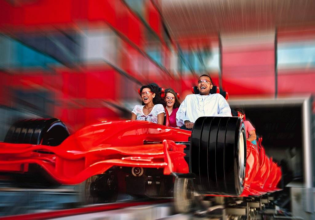 Ferrari World Abu Dhabi Speed Achterbahn