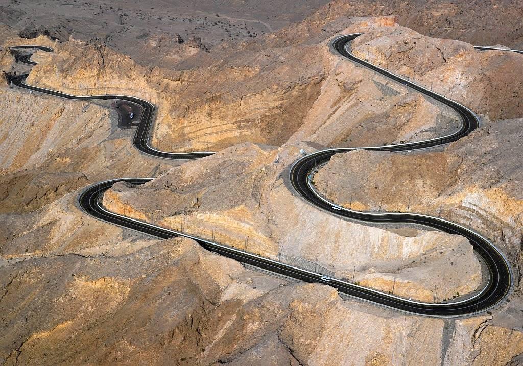 Berg Jebel Hafeet Straße