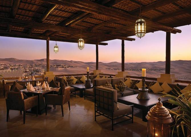 Restaurant Wüste Abu Dhabi