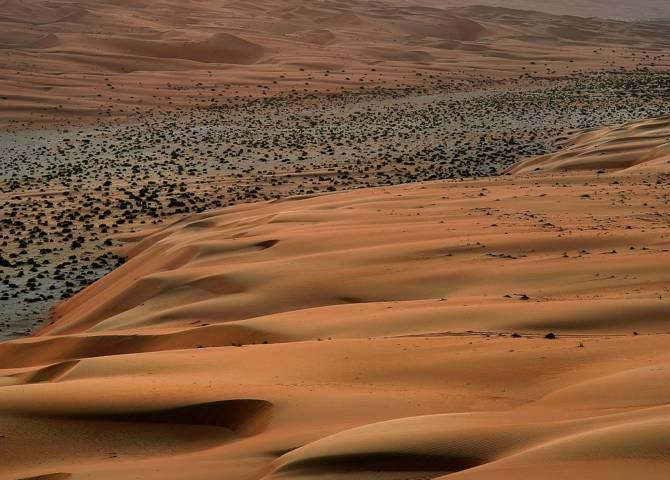 Sonnenuntergang Wüste ABu Dhabi