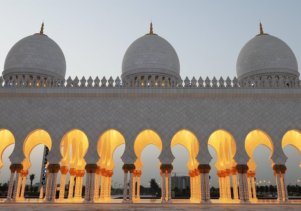 Säulen Moschee Abu Dhabi