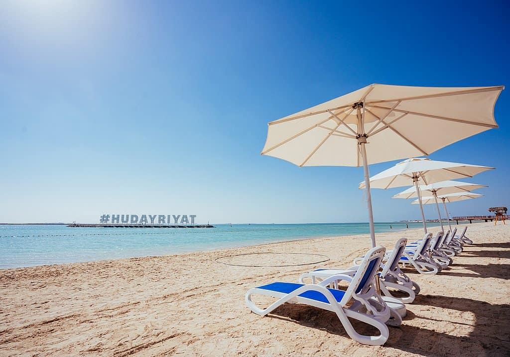 Strandabschnitt Hudayriyat Abu Dhabi