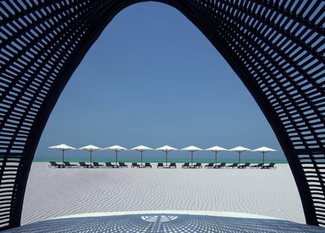 Blick auf Saadiyat Strand