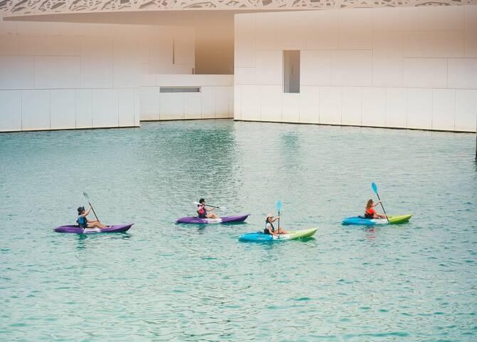 Kajaktour Louvre Abu Dhabi